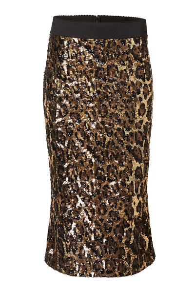 Sequin Leopard Skirt