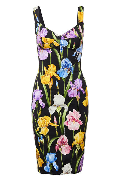 Dolce & Gabbana, Iris Print Dress