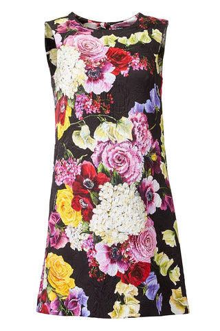 Floral Brocade Shift Dress