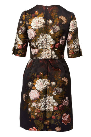 Dolce & Gabbana, Baroque-Rose Jacquard Dress