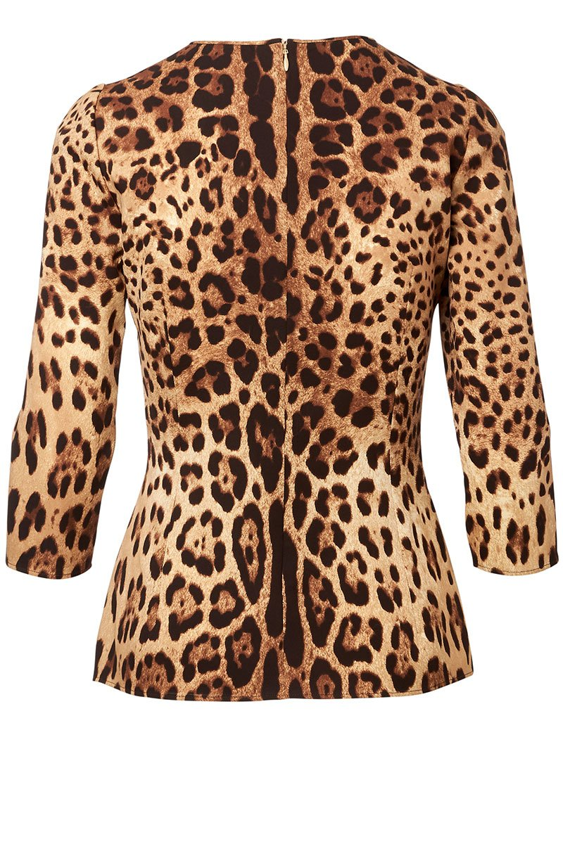 Leopard Marrone Blouse