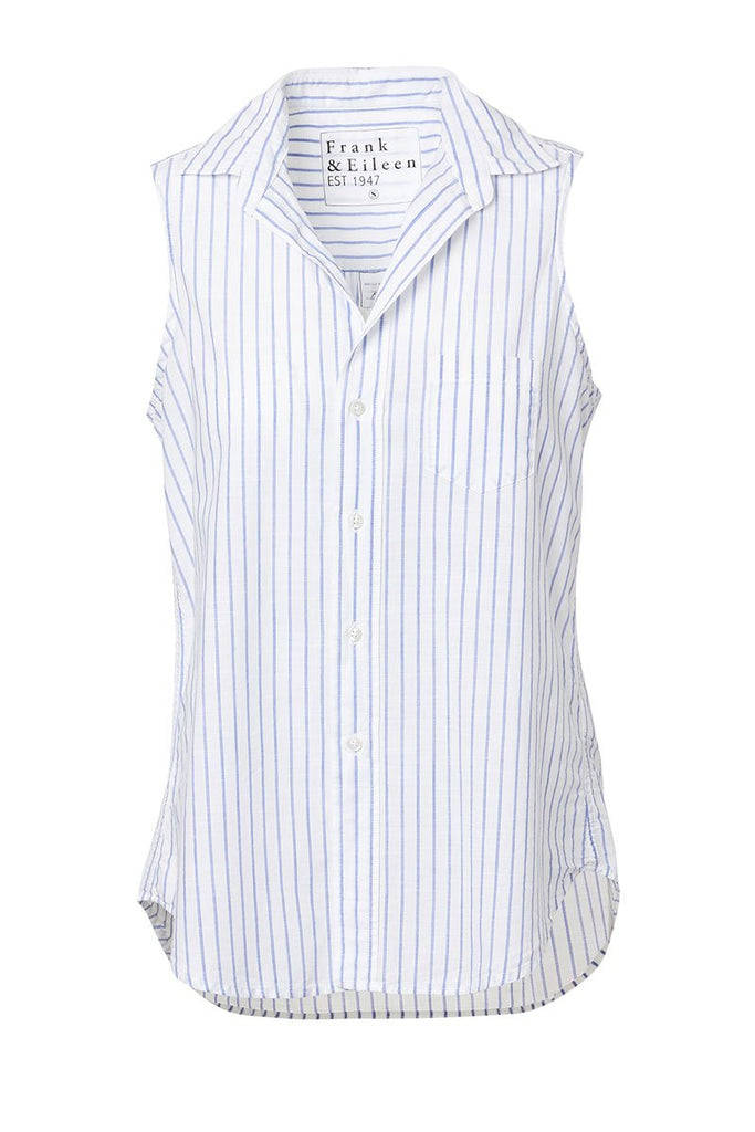 Fiona Striped Button Front Tank