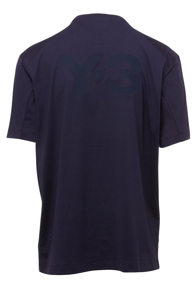 Mens Y-3 Classic Logo S//S T-Shirt In Navy Blue