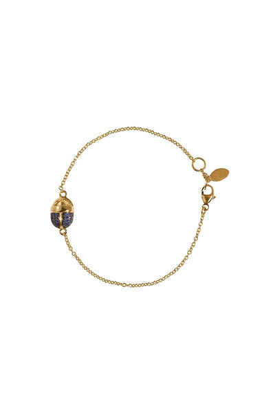 Small Scarab Chain Bracelet