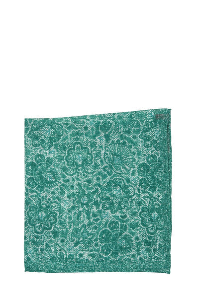 Isaia, Floral Paisley Pocket Square