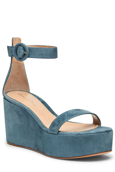 Gianvito Rossi, Suede Wedge Sandals