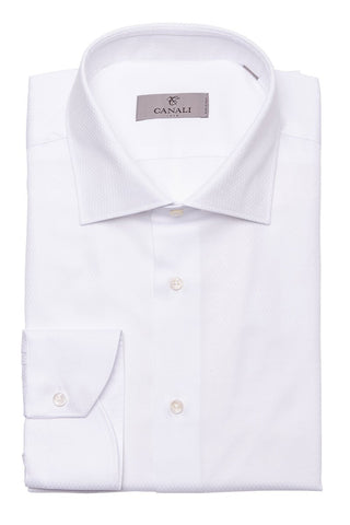 Canali, Zig Zag Texture Dress Shirt