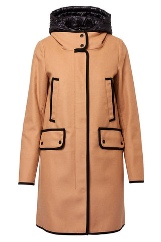 Herno, Convertible Contrast Trim Coat