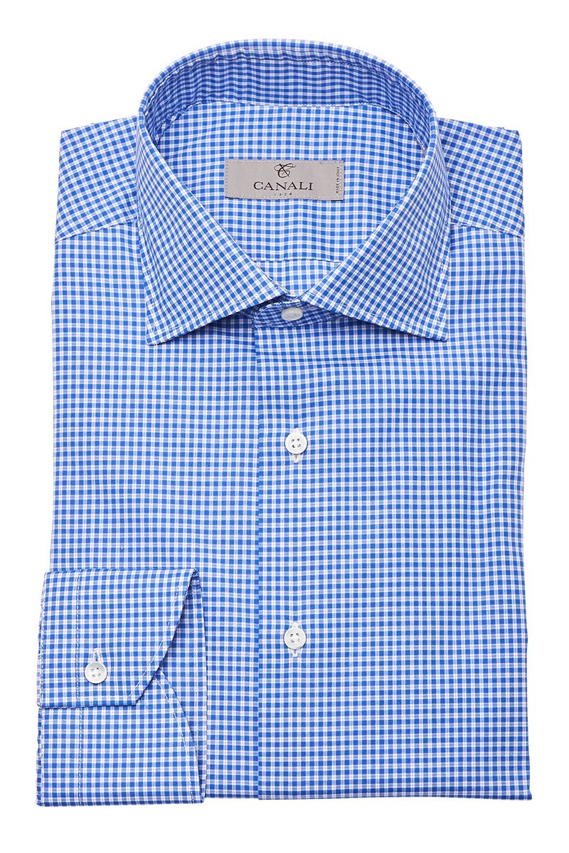 Canali, Micro Check Dress Shirt