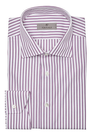 , Purple Stripe Dress Shirt