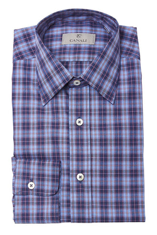 Purple Plaid Sportshirt