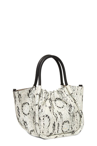 Printed Snake Small Ruched Tote