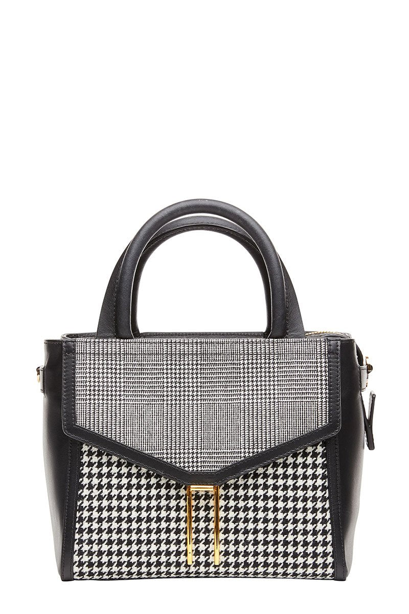 Houndstooth Mini Booth Satchel