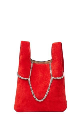 Suede Chain Mini Shopper