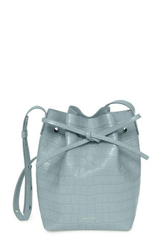 Mansur Gavriel, Croc Embossed Mini Bucket Bag