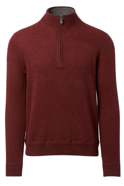 Raffi, Cashmere Zip Mock Sweater