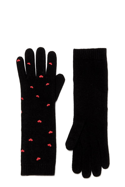 Heart Embroidered Long Gloves