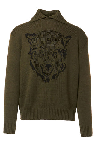 Polo Neck Wolf Sweater