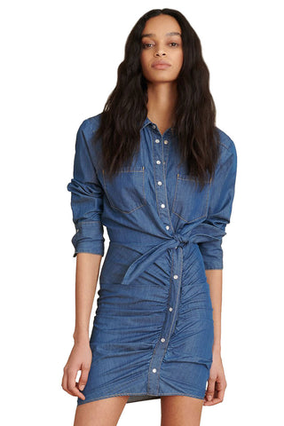 Sierra Ruched Chambray Dress