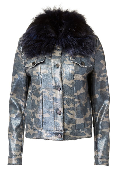 Sequin Camo Jacket