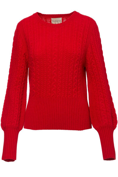 Jumper 1234, Cropped Cable Crew