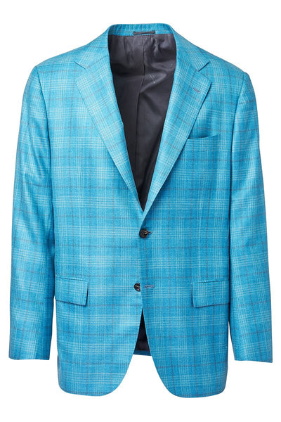 Kiton, Teal Plaid Sportcoat