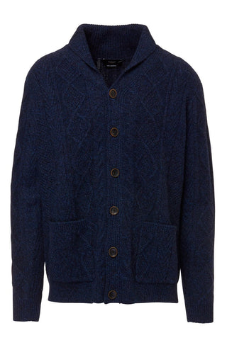 Kinross Cashmere, Marled Cable Shawl Cardigan