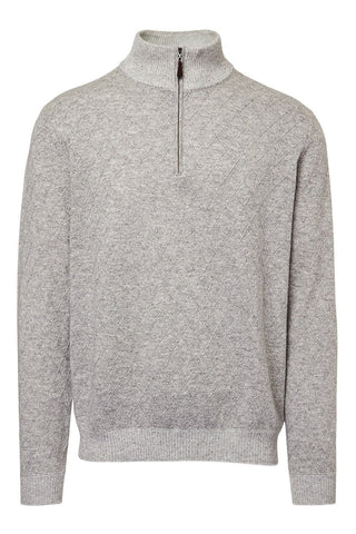 Kinross Cashmere, Lattice Quarter Zip