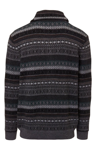 Kinross Cashmere, Fairisle Shawl Collar Cardigan