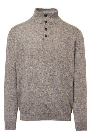 Kinross Cashmere, Button Mock Sweater
