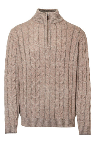 Kinross Cashmere, Plaited Cable Sweater