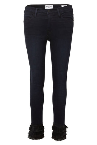 Le High Skinny Triple Fringe Jeans