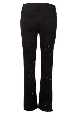 FRAME, Le High Straight Embellished Stud Jeans