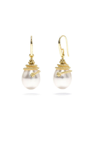 Capucine De Wulf, La Jardiniere Lily Pearl Drop Earrings