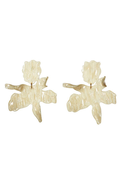 Lele Sadoughi, Paper Lily Earrings