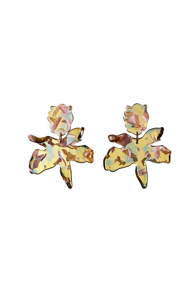 Lele Sadoughi, Small Paper Lily Earrings