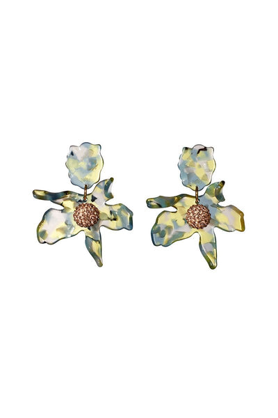Lele Sadoughi, Small Crystal Lily Earrings