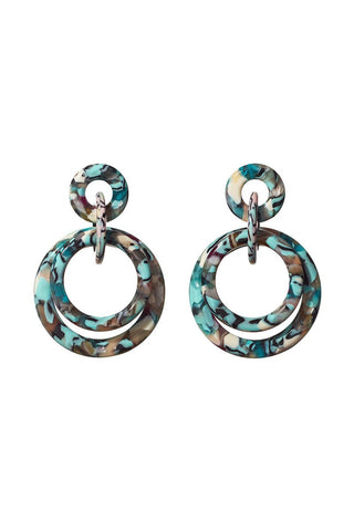 Lele Sadoughi, Double Ring Hoop Earrings