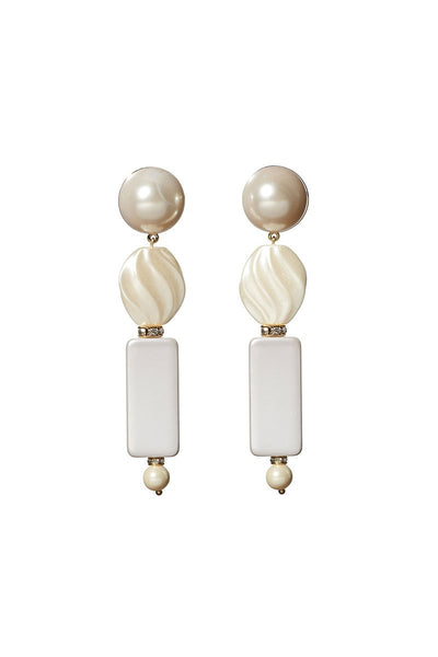 Lele Sadoughi, Stacked Pearl Earrings