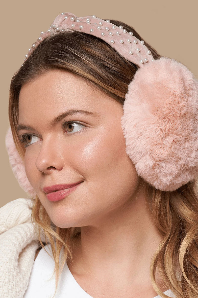 Blush Earmuff Headband