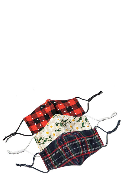 Set of 3 - Aspen Lodge Face Masks