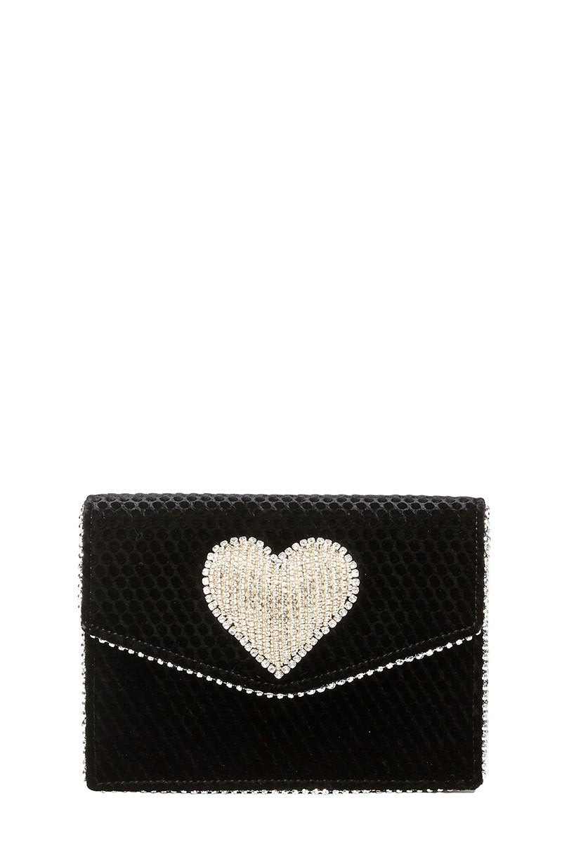 Lulu Disco Heart Crossbody Clutch