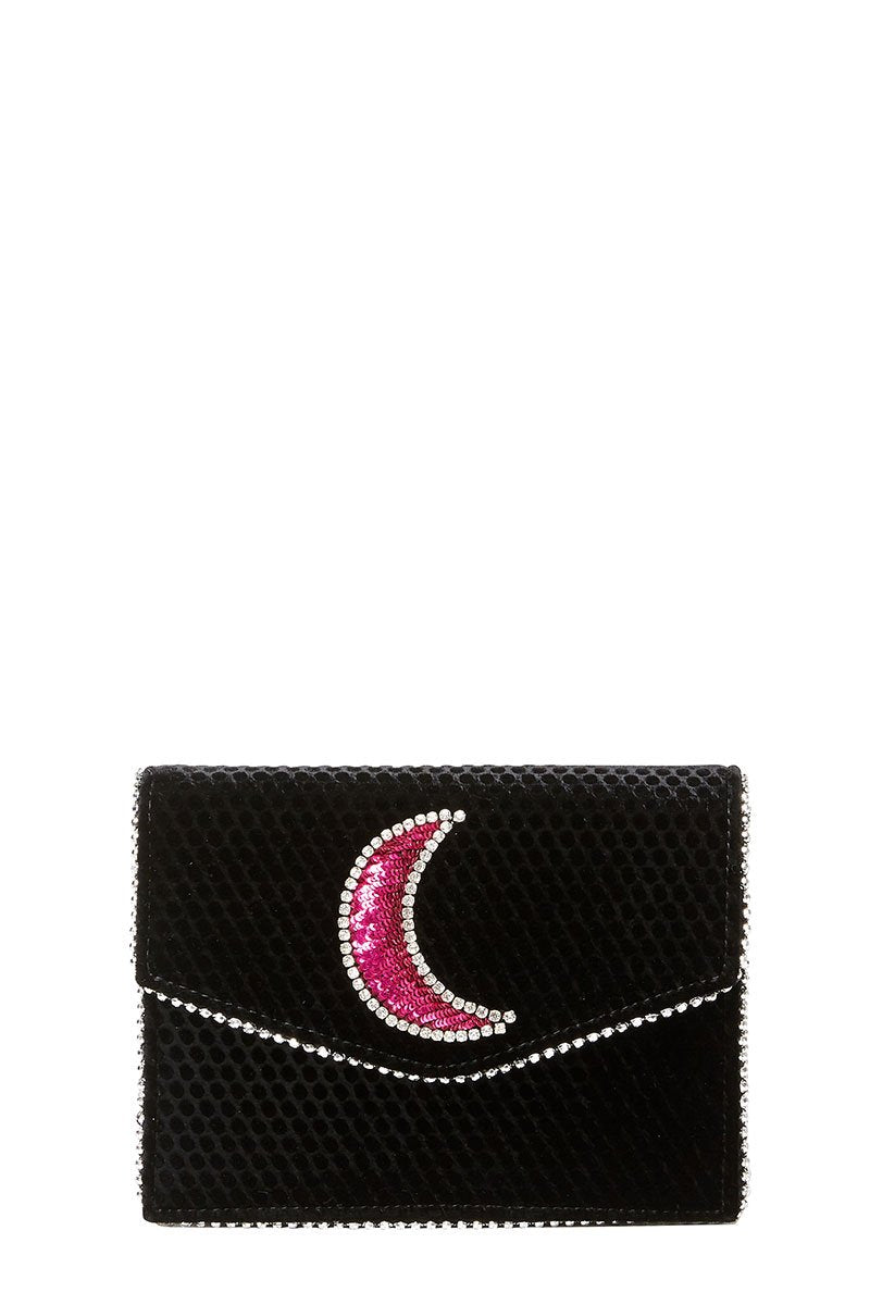 Lulu Disco Moon Crossbody Clutch