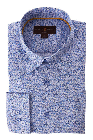 Classic Fit Patterned Sportshirt