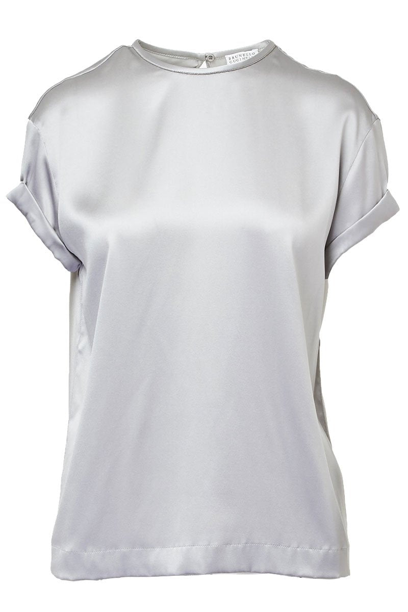 Silk Satin T-Shirt