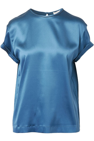 Brunello Cucinelli, Satin T-Shirt