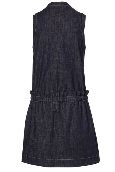 Brunello Cucinelli, Dark Polished Denim Dress