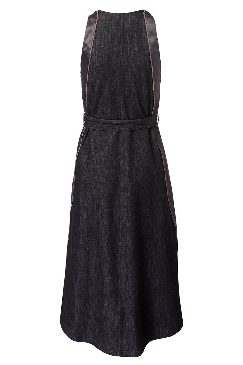 Brunello Cucinelli, Belted Denim Dress