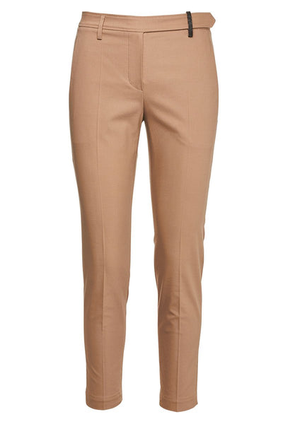 Twisted Twill Cigarette Trousers
