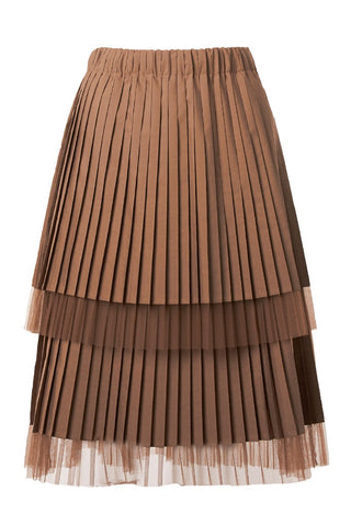 Pleated Two Tier Skirt
